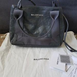 Balenciaga cabas navy xs crossbody bag anthracite